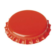 Crown caps 26mm orange, 100 Stück