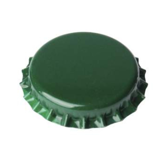 Crown caps 26mm green, 100 Stück