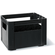 Crate for bottles 24 x 33 cl, black