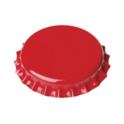 Crown caps 26mm red, 100 Stück